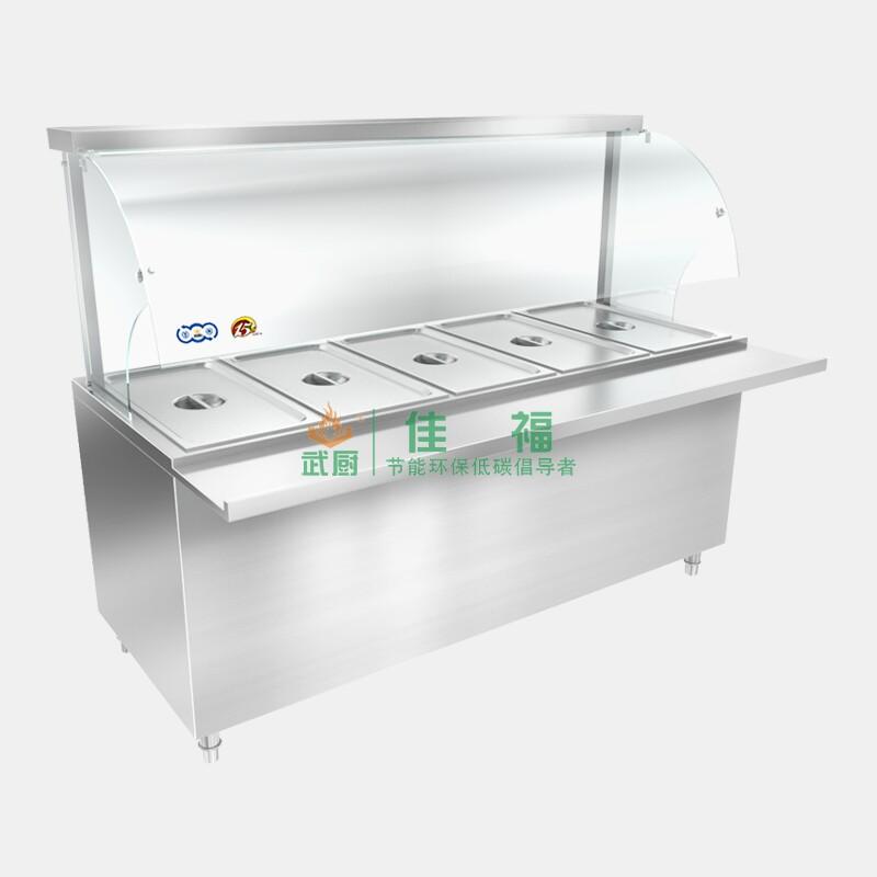 柜式带玻璃罩式保温台