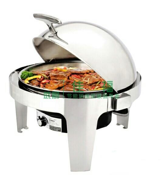 全翻盖圆形电加热自助餐炉