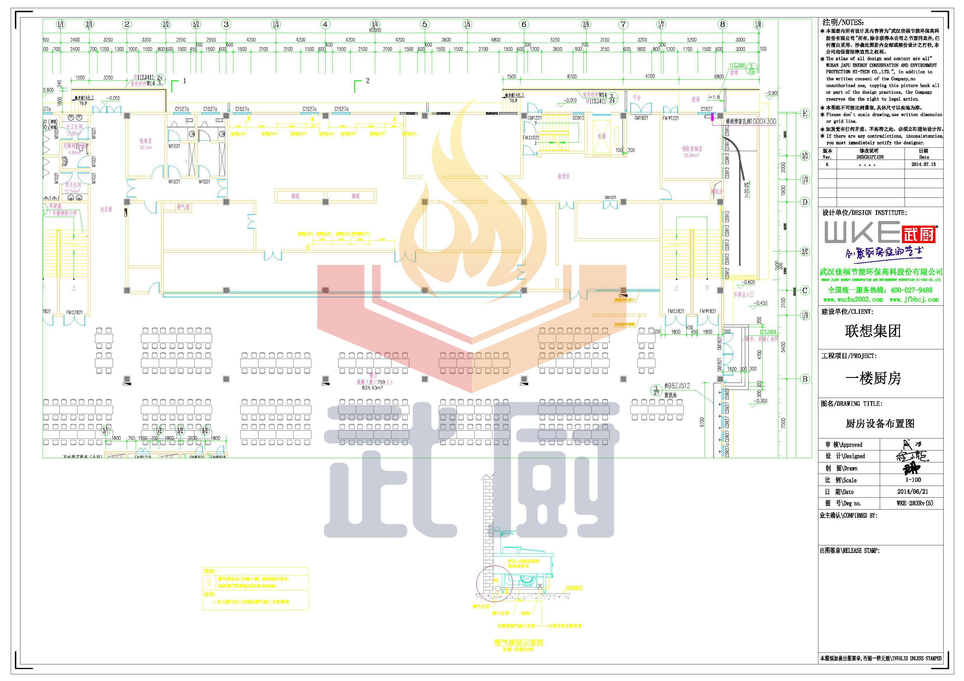 食堂厨房燃气图